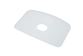 60080114 - Hoogwaardige kleurcode HACCP hygiënische deegschraper 146 x 98 mm, wit