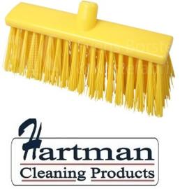 22310132-4 - FBK Hoogwaardige kleurcode HACCP Polyester hygiënische kunststof harde bezem 300 x 60 mm geel 23190