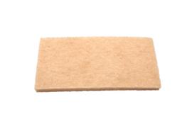 80770103 - FBK Vloerpadhouder Schuurpad 250 x 120 x 25mm , zacht, beige 15121