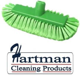 205161008-5 - FBK Inwasborstel waterdoorlatend hoogwaardige kleurcode HACCP hygiënische polyester 290 x 130 mm gespleten vezel zacht groen 29105