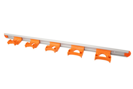 722102106-7 - FBK HCS Wand railophangsysteem kleurcode HACCP aluminium 900 mm 5 x klem oranje 15157