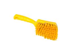 119151012-4-Polyester handborstel vezels in hars gegoten kleurcode HACCP 275 mm x 70 mm hard geel 90548
