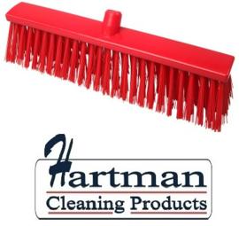 22510134-3 - FBK Hoogwaardige kleurcode HACCP Polyester hygiënische kunststof harde bezem 500 x 60 mm rood 26190