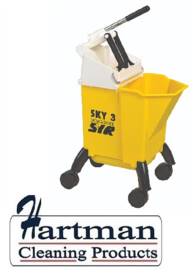 992363 - SYR Sky 3 Combo mobile mopsysteem  met geïntegreerde wringer 10 liter kleurcode geel