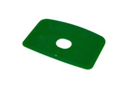 60480114 - Hoogwaardige kleurcode HACCP hygiënische deegschraper 146 x 98 mm, groen