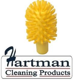 40120103-4 - FBK Hoogwaardige kleurcode HACCP hygiënische kunststof medium wormhuisborstel Ø 80 mm geel 27132