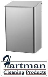 8230 - Afvalbak 15 liter gesloten RVS, MediQo-line MQWB15E