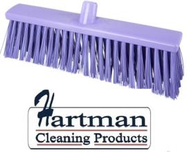 22410133-8 - FBK Hoogwaardige FBK kleurcode HACCP Polyester hygiënische kunststof harde bezem 400 x 60 mm paars 25190