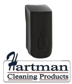 3365  -Zeepdispenser 900 ml kunststof navulbaar zwart PlastiQline
