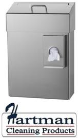 8260  - Hygiëneafvalbak 10 liter RVS + zakjeshouder, MediQo-line MQHB10E