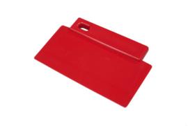422141012 - Spatel polypropyleen kleurcode HACCP Metal + X-Ray dedecteerbaar 200 mm x 125 mm rood