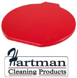 312106102-3 - FBK Deksel voor emmer 15 liter hoogwaardige kleurcode HACCP hygiënische polypropyleen rood 80111