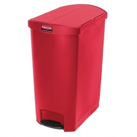GL041 - Rubbermaid pedaalemmer rood 90ltr