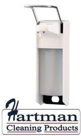 8055 - Zeep- & desinfectiemiddeldispenser wit 1000 ml LB, Mediqo line MQL10P