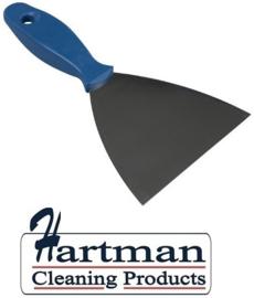 409141009-2- FBK Spatel RVS met kunststofhandvat metaal dedectbaar kleurcode HACCP 100 mm blauw 78102