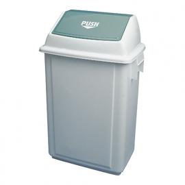 962030 - Afvalbak met tuimeldeksel 50 liter wit