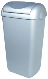 5675 - Kunststof RVS-look afvalbak 23 liter + swing deksel, PQSA23M