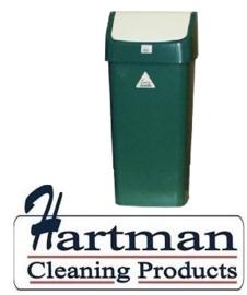 L3003293 - Afvalbak met schommeldeksel groen 50 Liter SYR