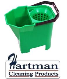 950897 - SYR Mopemmer met handgreep en zeef 7 liter kleurcode groen HACCP