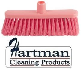 20910115-9 - FBK hoogwaardige kleurcode HACCP hygiënische bezem 280 x 48 mm ,zacht roze 24147