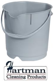 300106102-11 - FBK Emmer hoogwaardige kleurcode HACCP hygiënische polypropyleen 9 liter grijs 80102