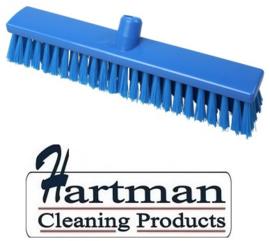 21810126-2 - FBK Hoogwaardige kleurcode HACCP Polyester hygiënische kunststof medium bezem 400 x 60 mm blauw 25155