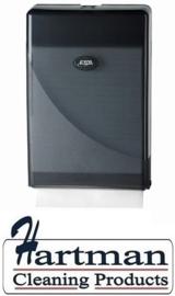 431153 - Europroducts Vouw Handdoekdispenser Slimfold Pearl Black