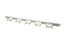 722102106-1 - FBK HCS Wand railophangsysteem kleurcode HACCP aluminium 900 mm 5 x klem wit 15157