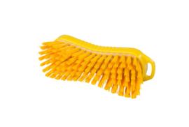 129151013-4 - Polyester handborstel vezels in hars gegoten kleurcode HACCP 210 mm x 70 mm hard geel 95063