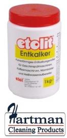 117802124 - Ontkalker etolit poedervormig inhoud 1kg voor koffie-/vaatwasmachine boiler etc.