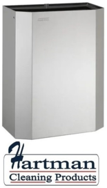 11042 - Afvalbak open 25 liter RVS PPA2279CS – Dutch Bins