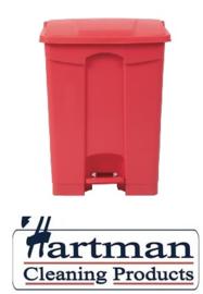 DC710 - Jantex keuken pedaalemmer rood 65ltr