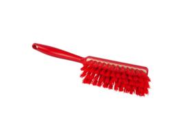 109151010-3 - Polyester handveger vezels in hars gegoten kleurcode HACCP 340 mm x 35 mm hard rood 90255-