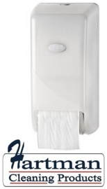 431001 - Pearl White Toiletrolhouder voor 2 doprollen EURO Products