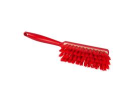 100151009-3 - Polyester handveger vezels in hars gegoten kleurcode HACCP 340 mm x 35 mm medium rood 90252