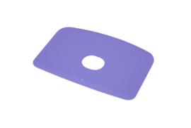 60780114 - Hoogwaardige kleurcode HACCP hygiënische deegschraper 146 x 98 mm, paars