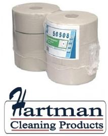 P50508 - Toiletpapier euro maxi jumbo, 1-laags, 525 mtr - 6 rol p/pak