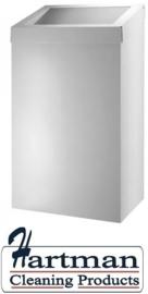 13070 - Afvalbak 50 liter gesloten wit, AC BB 50 EP Dutch Bins