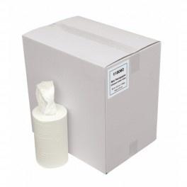 118060  - EURO Mini handdoek -  Poetsrollen - 2-laags wit 60 meter x 23cm, doos à 12 rollen