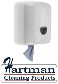 3252 - Poetsroldispenser midi kunststof wit voor Centerfeed  midi handdoekrollen