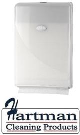 431103 - Europroducts Handdoekdispenser Slimfold Pearl White