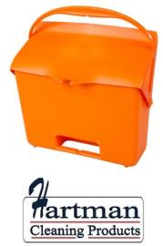 410101104-7 - FBK Hotelstofblik met handgreep hoogwaardige kleurcode hygiënische polypropyleen oranje 80205