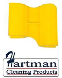 410101104-4 - FBK HCP Polypropyleen Clip voor steel hotel stofblik geel 80204