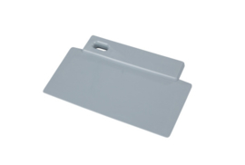 38180106-11 - FBK Spatel hoogwaardige kleurcode 200 x 125 mm polypropyleen grijs 81900
