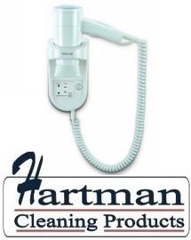 17291 - Wandhaardroger wit met spiraalsnoer en shaver aansluiting, Premium Smart 1600 Shaver VALERA