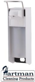 8005 - Zeep- & desinfectiemiddeldispenser wit 500 ml KB, MediQo-line MQ05P
