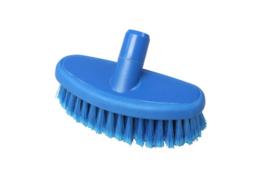 742161004 - Hoogwaardige hygiënische kunststof wasborstel waterdoorlatend uit 1 stuk , zacht met gespleten vezels 200 x 80 mm, blauw 22104