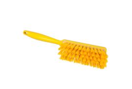 109151010-4 - Polyester handveger vezels in hars gegoten kleurcode HACCP 340 mm x 35 mm hard geel 90255
