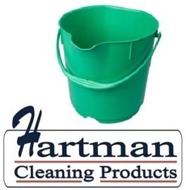 401141015-5 - Hoogwaardige FBK kleurcode HACCP hygiënische emmers metaal detecteerbaar 9 liter groen 70102