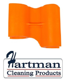 410101104-7 - FBK HCP Polypropyleen Clip voor steel hotel stofblik oranje 80204